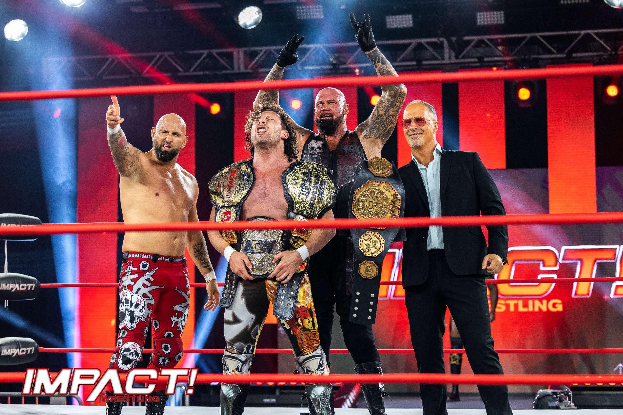 Team Challis: Kenny Omega and The Good Brothers vs Team Dreamer: Moose, Sami Callihan, and Chris Sabin