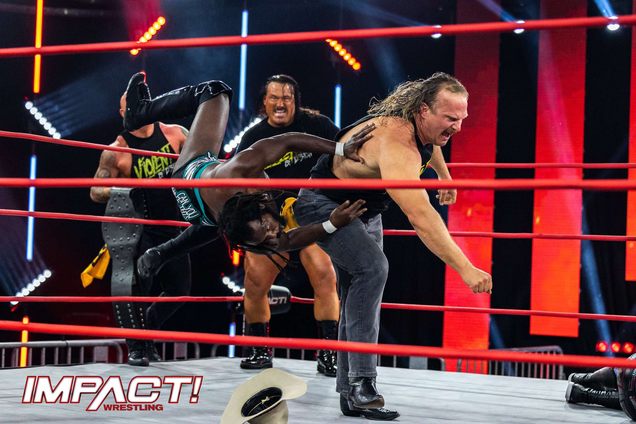 TJP and Fallah Bahh vs Rich Swann and Willie Mack